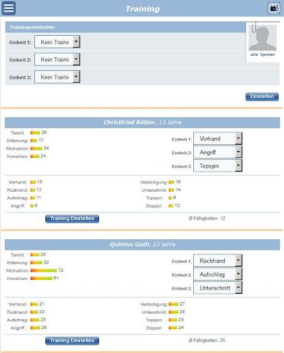 Tischtennis Manager 1.2.0 screenshots 18