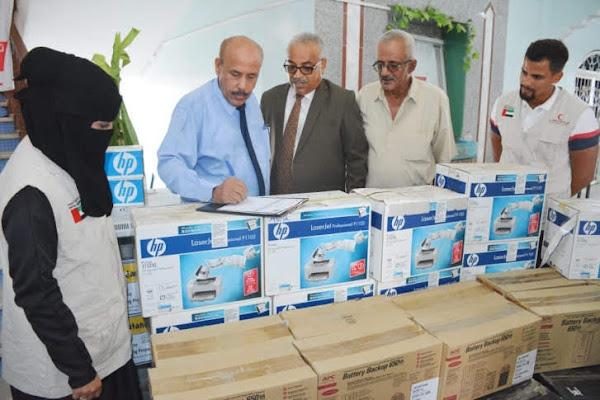 المساعدات الإماراتية تصل كلية الصيدلة