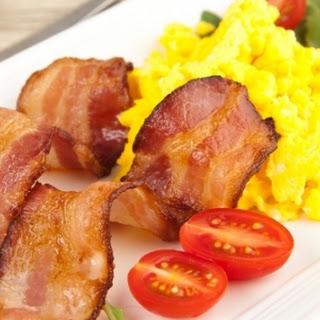 RecipeMaple Scrambled Eggs & Turkey Bacon