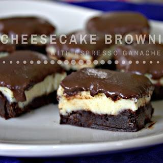 Cheesecake Brownies with Espresso Ganache