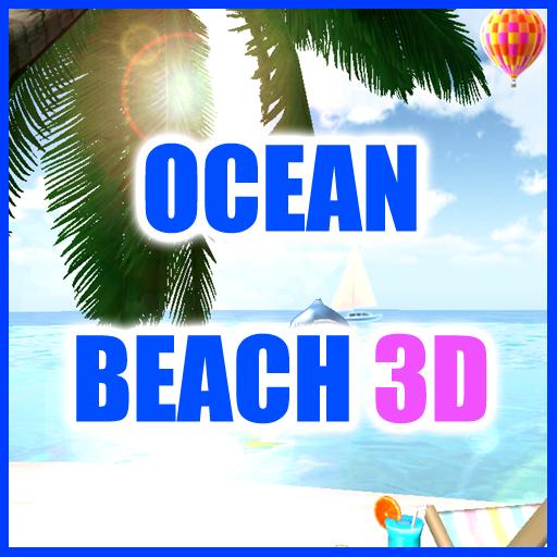 个人化のOCEAN BEACH 3D ライブ壁紙 LOGO-記事Game
