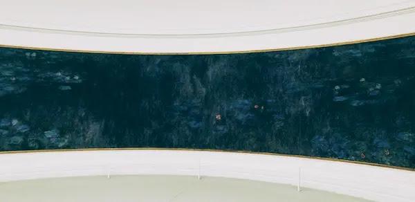 オランジュリー美術館のモネ睡蓮の部屋カミーユ・ルフレーヴとクロード・モネ共同設計