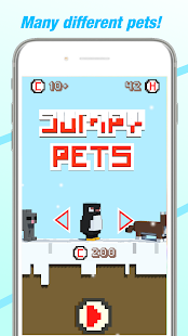 Jumpy Pets: Christmas (Arcade endless hopper) Screenshot