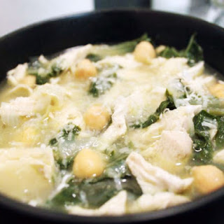 Shredded Chicken, Chard and Chickpea Soup Recipe