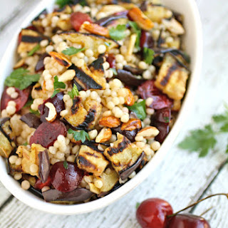 Recipe for Grilled Eggplant, Cherries, and Couscous Salad