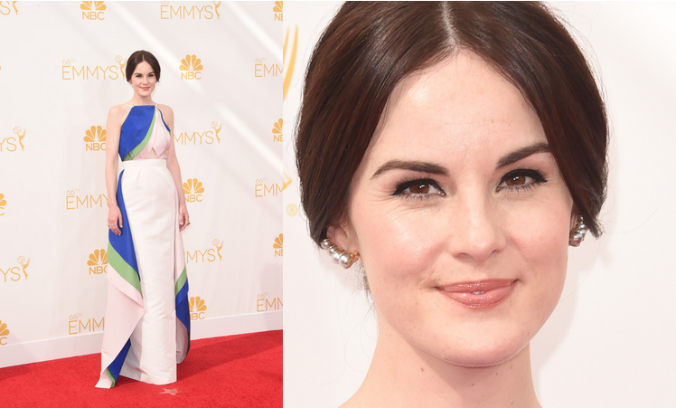 Tracy Matthews Emmys 2014 Michelle Dockery Red Carpet.png