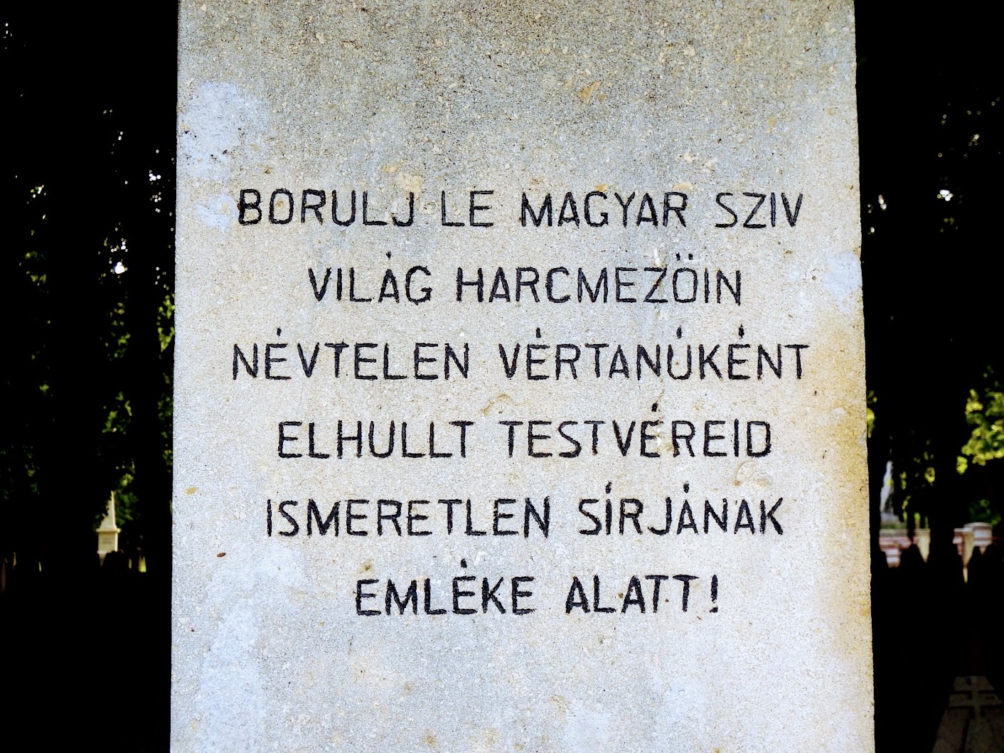 Magyar emlékkereszt a Jáki úti köztemetőben