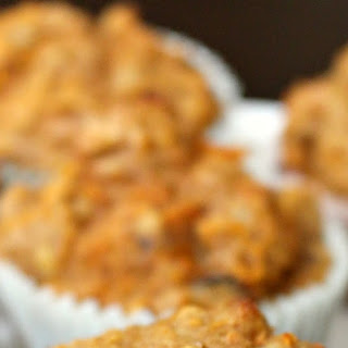 Healthy Carrot Muffins with Raisins and Walnuts.