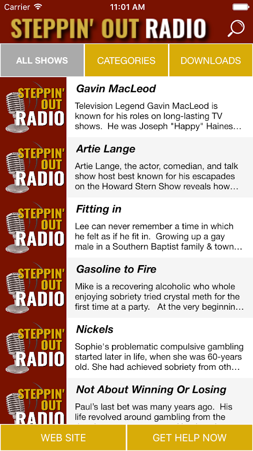 Steppin' Out Radio- screenshot