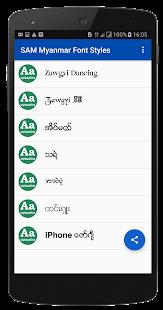 SAM Myanmar Font Styles(Filpfont) - náhled