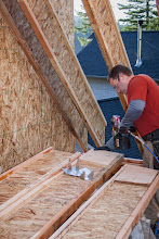 Photo: On to the 4-12 dormers.  Installing web stiffeners.