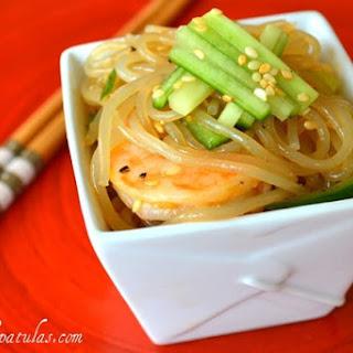 Shrimp and Cucumber Sesame Noodles.
