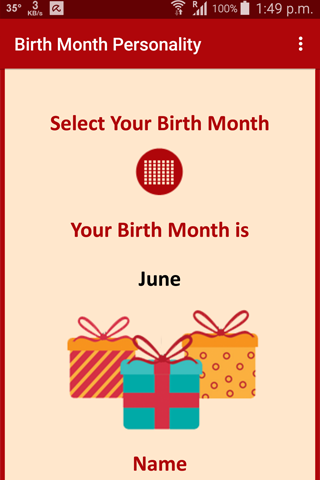 Birth Month Personality Android Apps On Google Play
