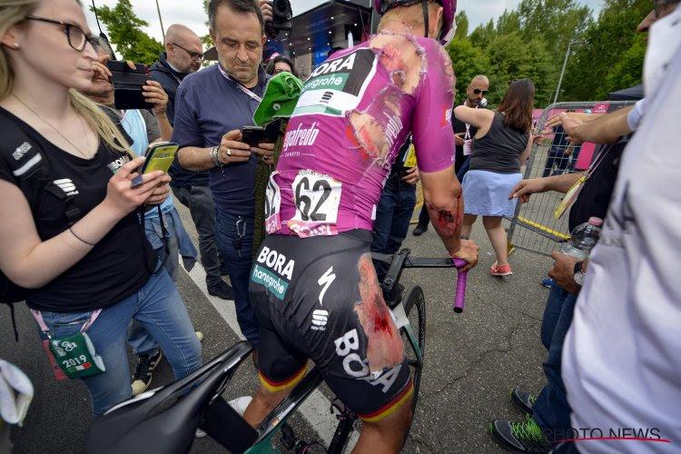 Zware valpartij in Giro eist zijn tol