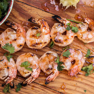 Grilled Sweet Chili and Lime Shrimp Kebabs.