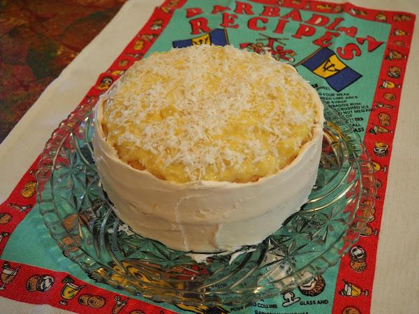 Pina Colada Custard Cake Recipe