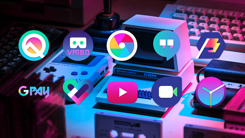 ULTRA - 80s Vaporwave Icon Pack Screenshot 0