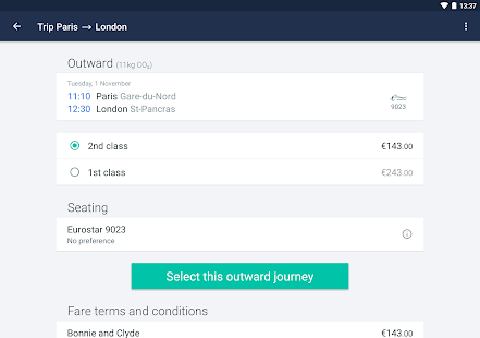 Captain Train: train tickets Screenshot 11