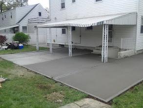 Photo: New Rear concrete Patio Hicksville NY