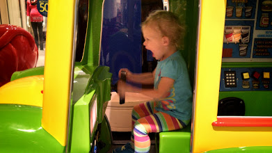Photo: Driving the bus at Bellis Fair Mall
