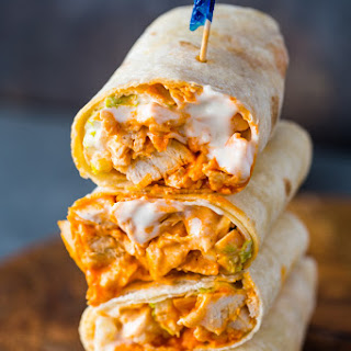 5 Minute Buffalo Chicken Wraps Recipe