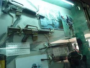 Photo: War (remnants) museum - helicopter, tiger cage, scary cell, weapons, Agent Orange child, land mines, photo gallery and mil. machines - very impressive especially photos and Agent Orange section