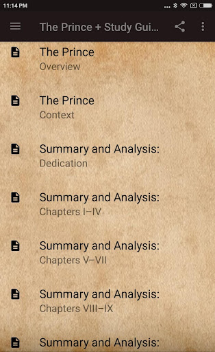 THE PRINCE BY NICCOLu00d2 MACHIAVELLI + STUDY GUIDE 2.4 screenshots 2