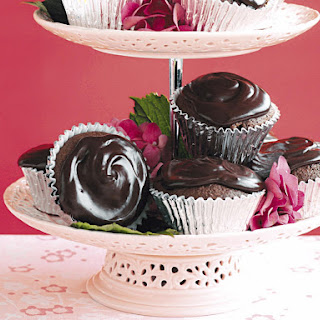 Chocolate and Raspberry Cupcakes.