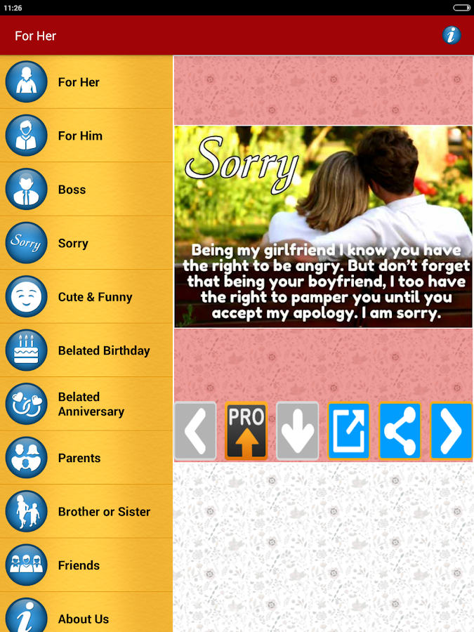 Sorry Cards Picture Messages Android Apps on Google Play – Apology Card Messages