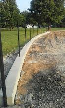 Photo: Warning Track Curb 07-31-2014