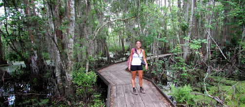Photo: Brittany in the swamp!