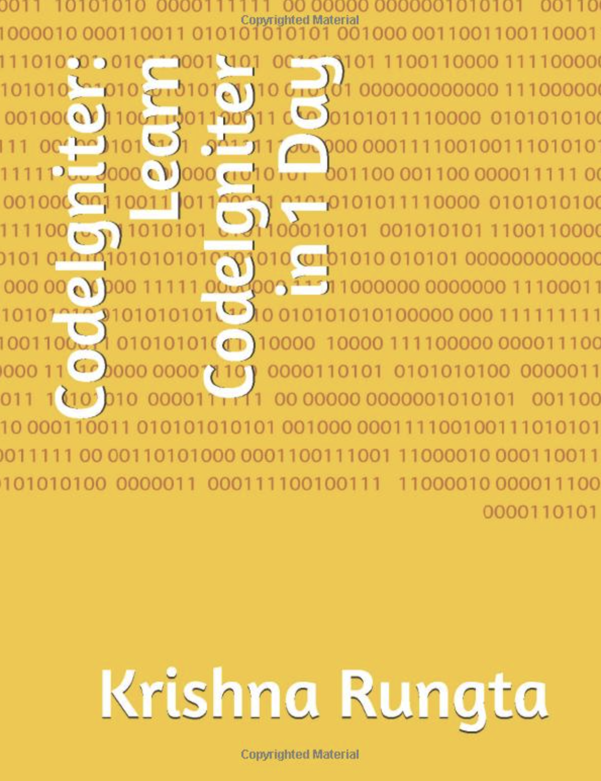 Learn CodeIgniter in One Day Book Cover