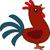 rooster head clip art - HD5307×6162