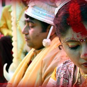 Pride or Shame? by Anirban Saha - Wedding Bride ( signs, wedding, indian, bengali, marriage, vermillion )