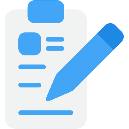 Icon image of pen and notepad