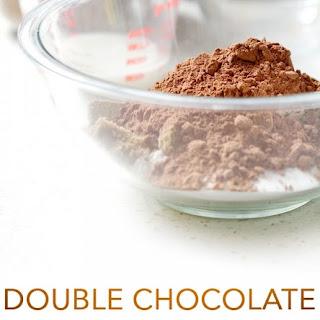 Double Chocolate Pumpkin Brownies.
