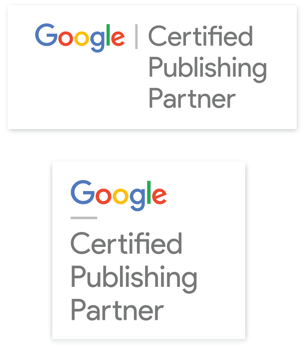 Google Certified Publisher Partner badges