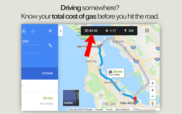 Fuel Cost for Google Maps™