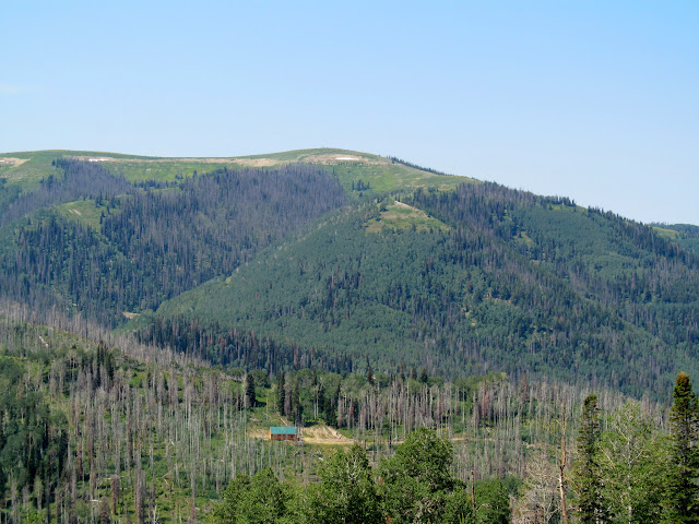Monument Peak seen from Castle Valley Ridge