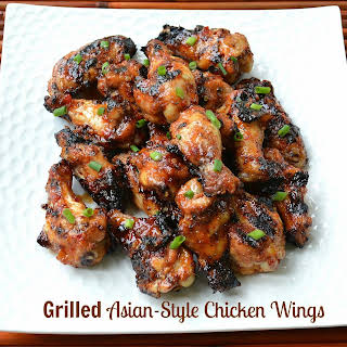 Grilled Asian Chicken Wings.