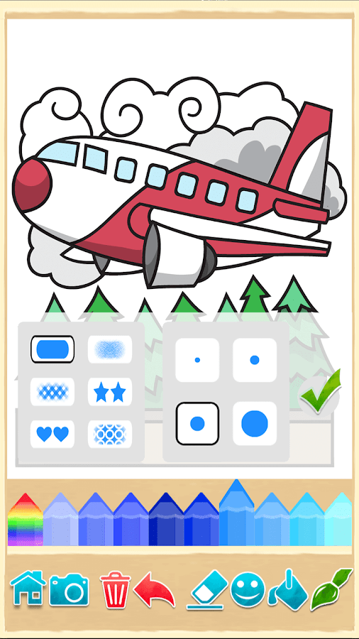 Planes: painting game. Beautiful coloring pages.- screenshot