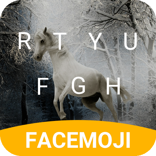 Snow Horse Emoji Keyboard Theme for Game of Throne