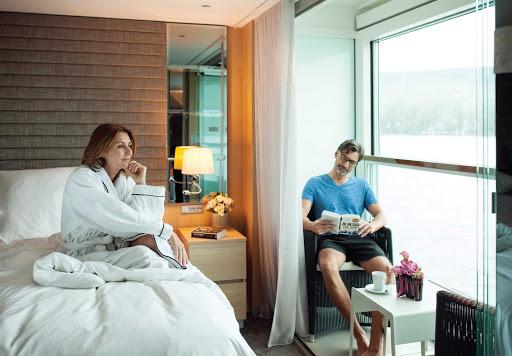 Scenic-Jasper-Deluxe-Balcony-Suite-with-Sun-Lounge.jpg - The Deluxe Balcony Suite with Sun Lounge on Scenic Jasper.