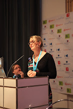 """Photo: """"Communicating Science & Innovations"""" Panel - 2012: Maria Satherstrom"""