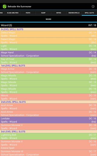 d20 Character Sheet screenshot 16