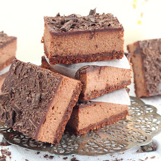 Cocoa Chocolate Cheesecake Bars.