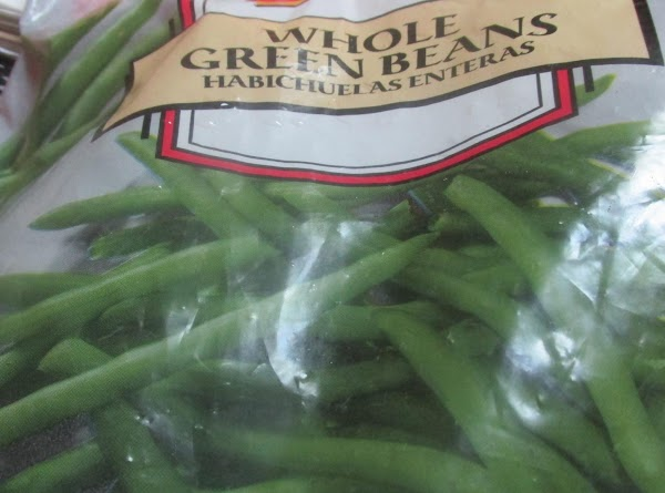 Add green Beans to a large pot, cover with water.