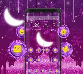 purple fantasy castle theme purple wallpaper - náhled