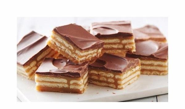 Triple-layer Cracker Toffee Bars Recipe