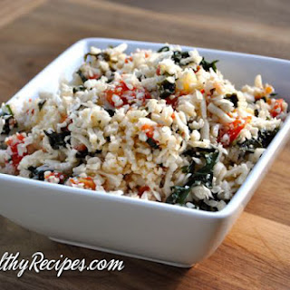 Kale & Tomato Cauliflower Rice.